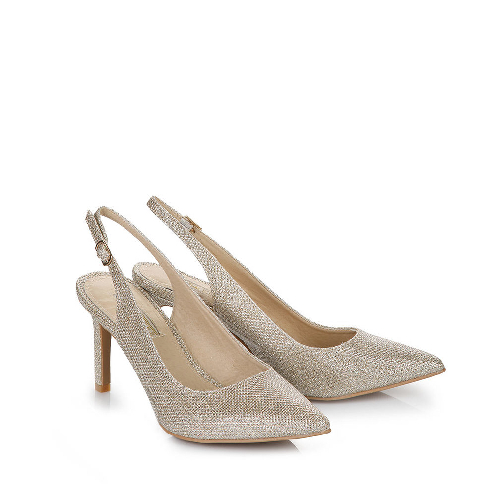 Buffalo Sling-Pumps in gold Glitzer bei Buffalo
