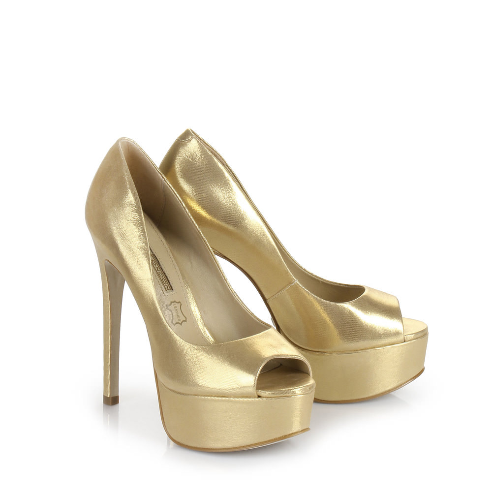 Buffalo Plateau Peep Toe in gold