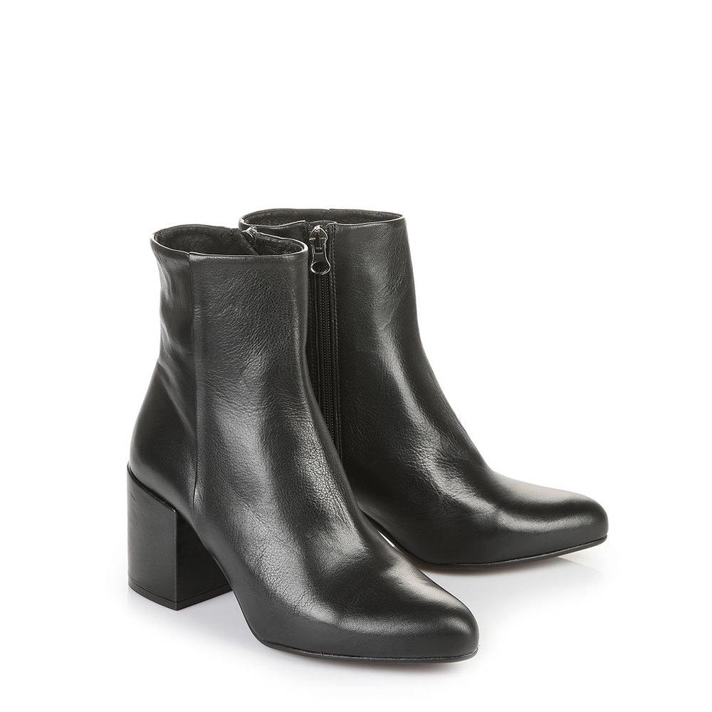 Buffalo Stiefelette in schwarz aus genarbtem Leder jetztbilligerkaufen