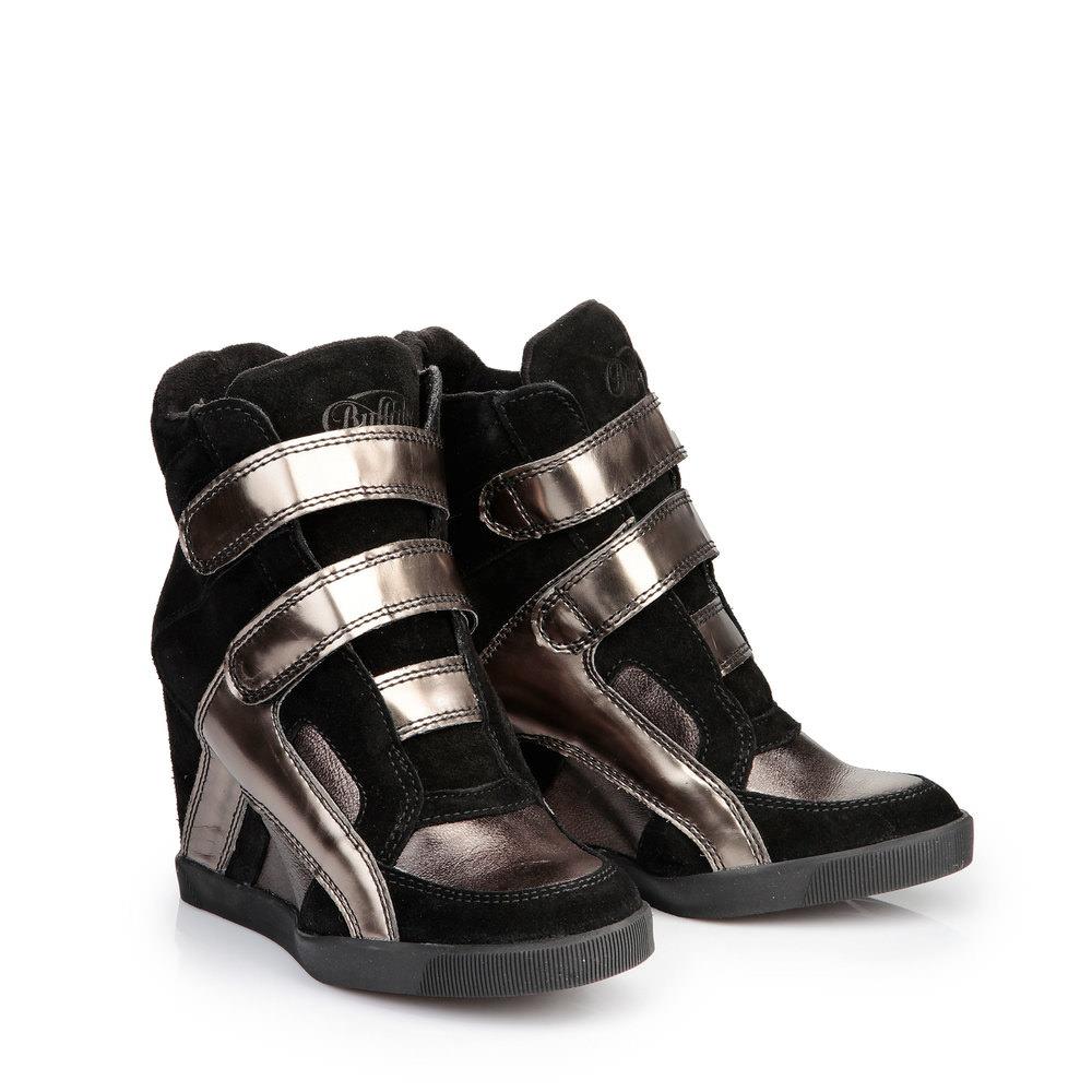 Buffalo Wedge Sneaker in schwarz