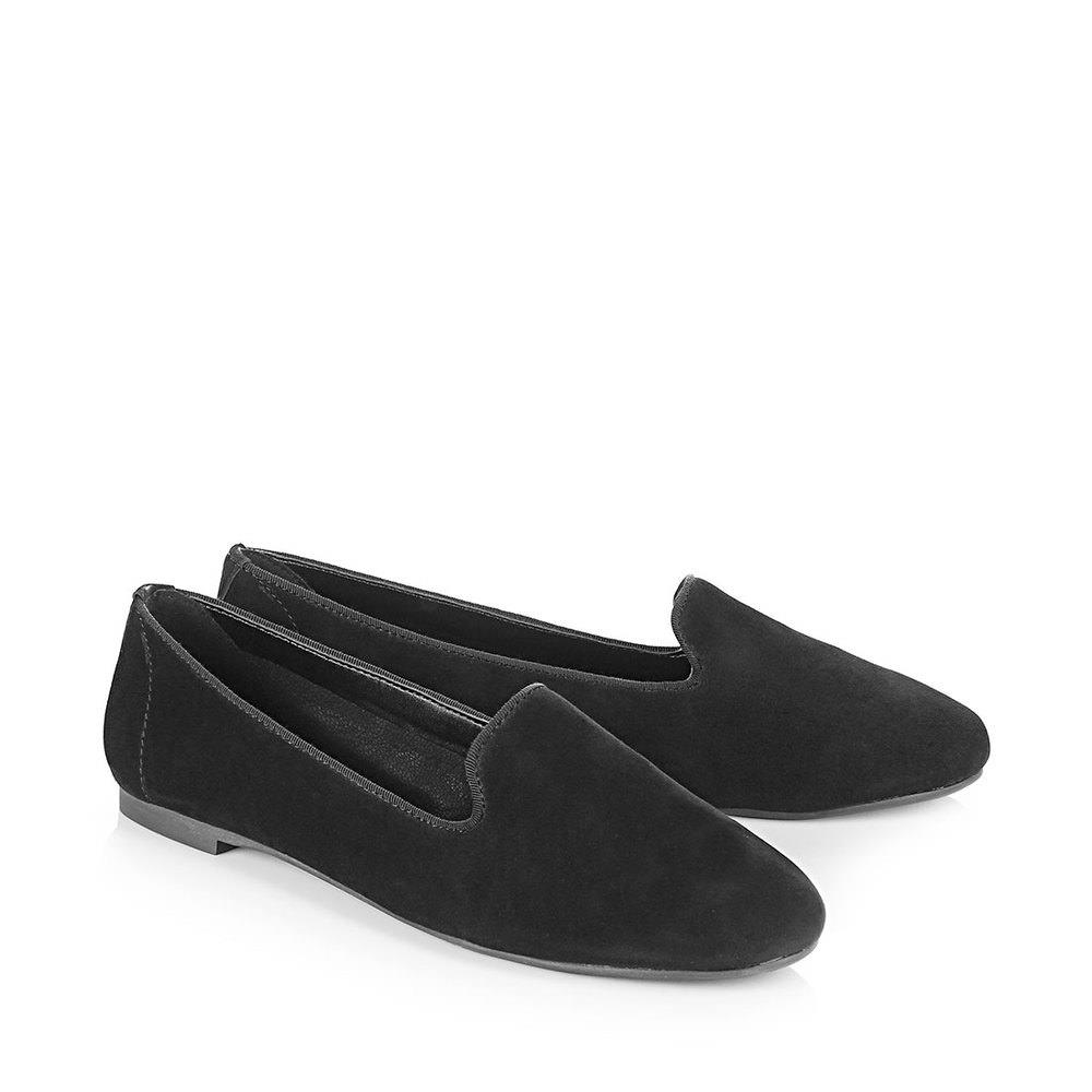 Buffalo Loafer in schwarz aus Veloursleder bei Buffalo
