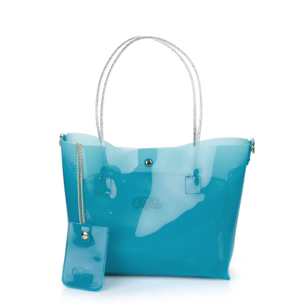 Strandtasche in türkis