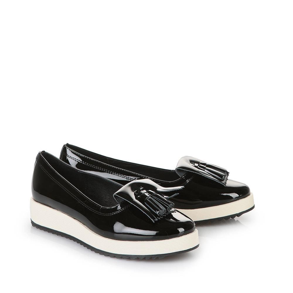 Buffalo Slip On in schwarz mit weißem Plateau Sale Angebote Lieskau