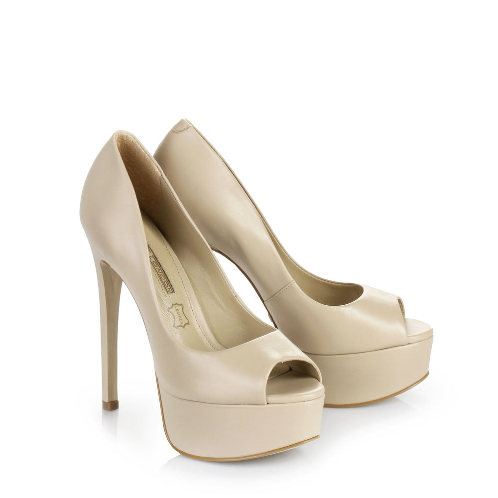 Buffalo Plateau Peep Toe in beige