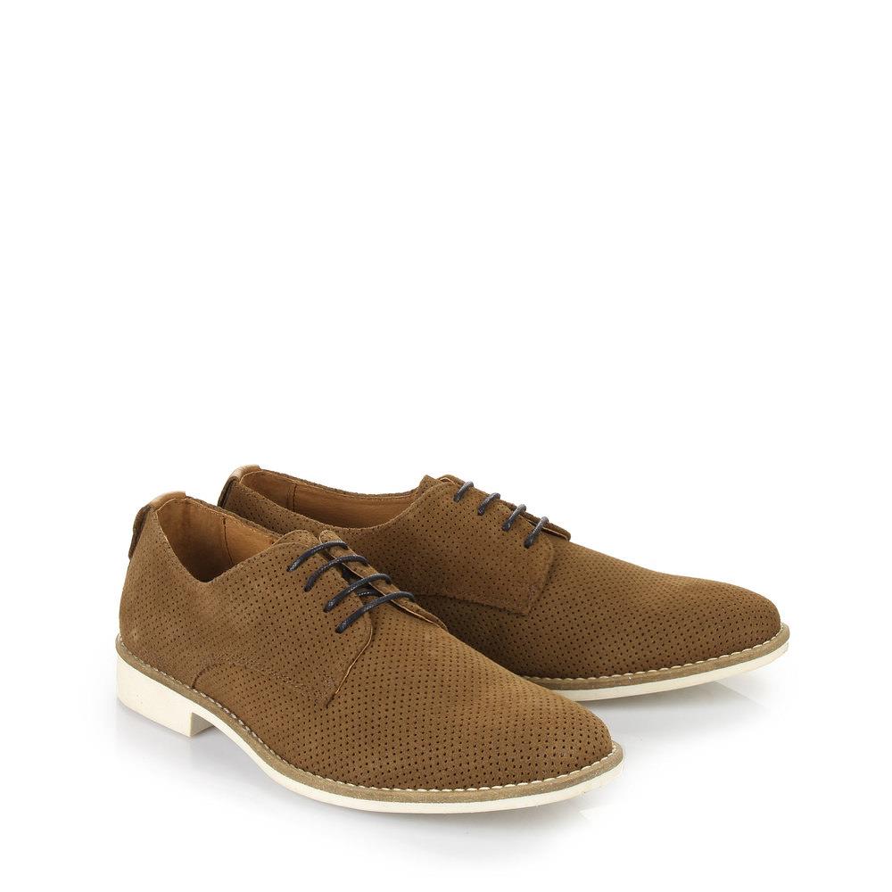 Chaussures à lacets Buffalo pour homme, cognac