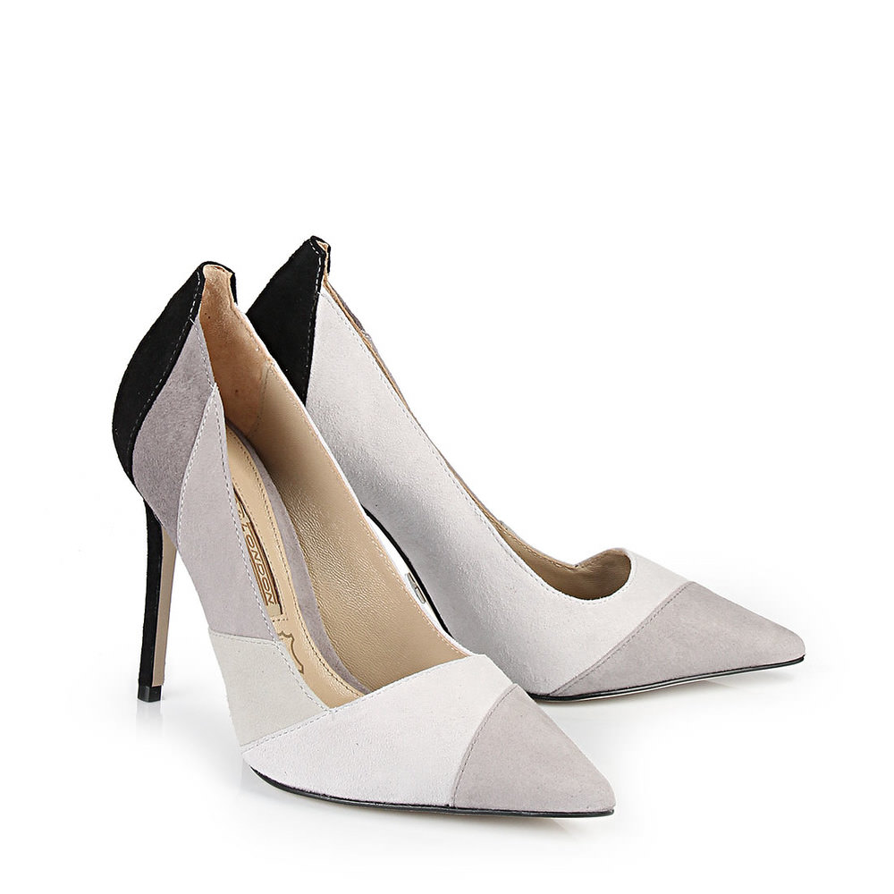 Buffalo Pumps in grau-schwarz im Colour Block Look bei Buffalo