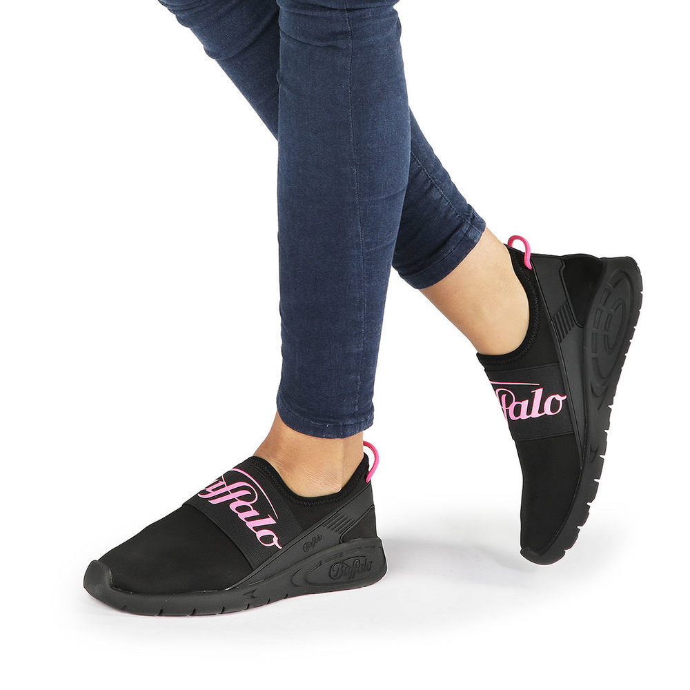 Buffalo Athleisure Sneaker in schwarz/pink Sale Angebote Hosena