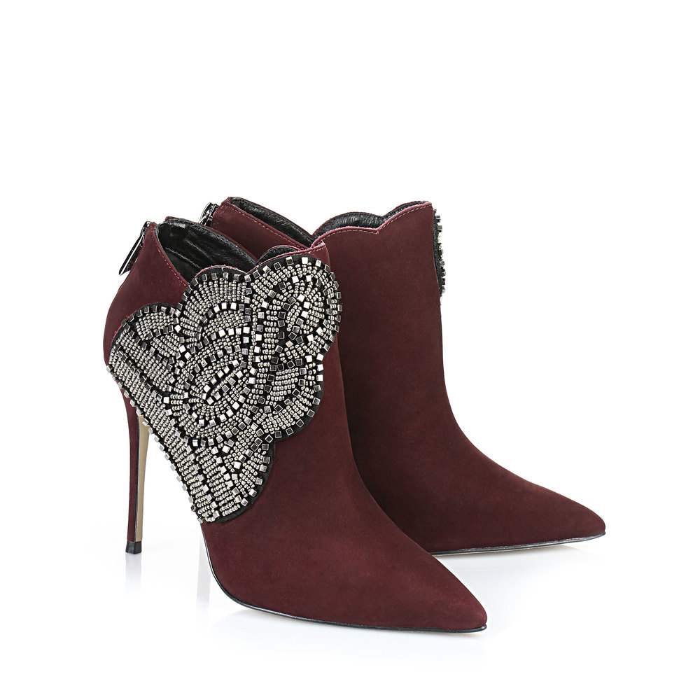 Buffalo Ankle Boots in weinrot