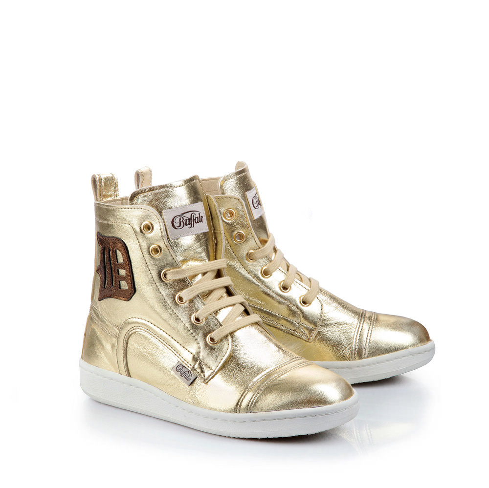 Buffalo Sneaker in gold