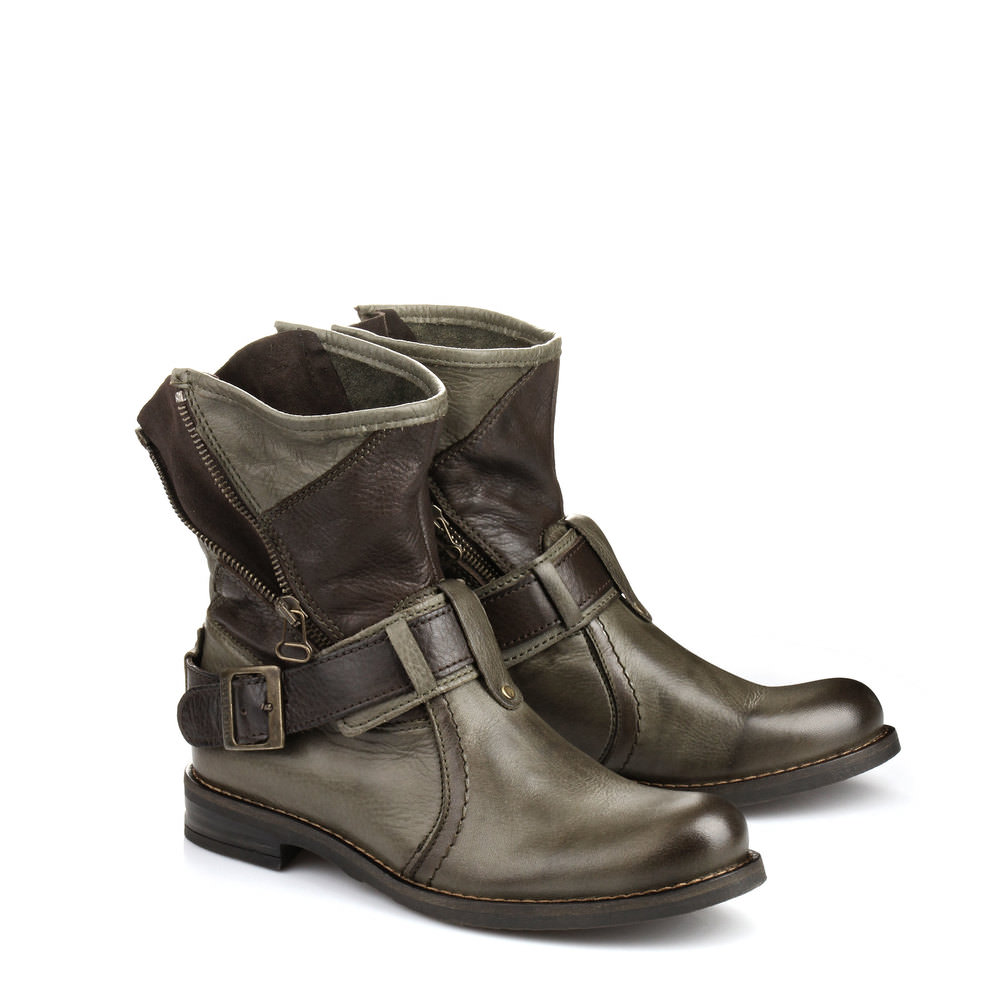 Buffalo Biker Booties in oliv