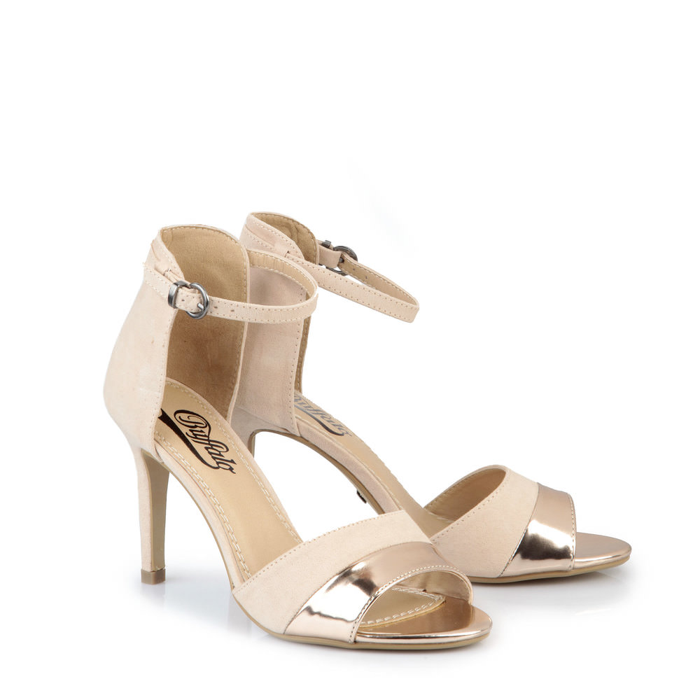 Buffalo Cap Toe Sandalette in nude