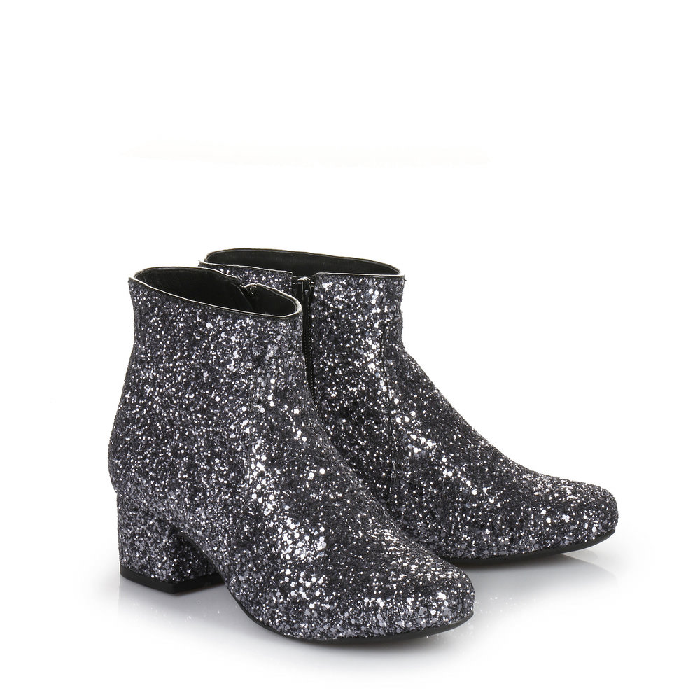 Buffalo Glitzer Stiefelette in anthrazit