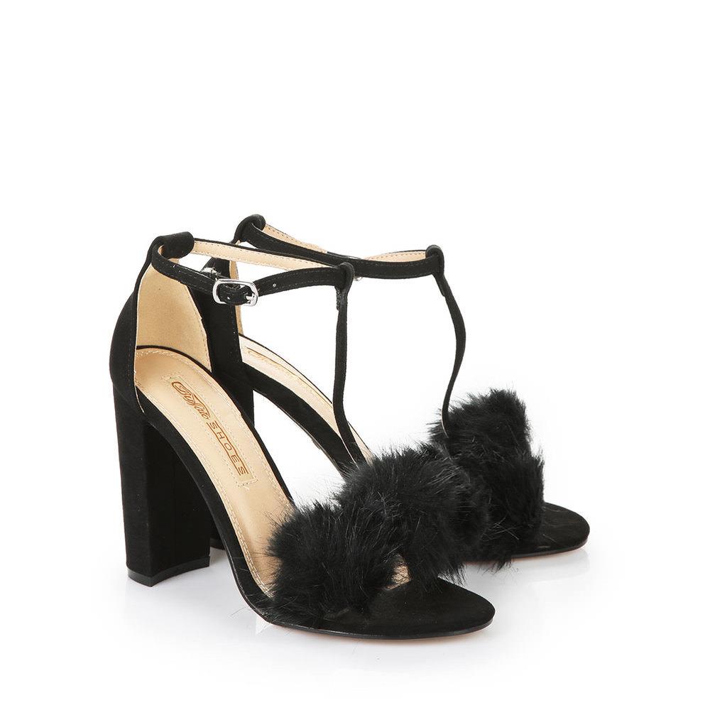 Klein Döbbern Angebote Buffalo Chunky Heels Sandalette in schwarz mit Blockabsatz