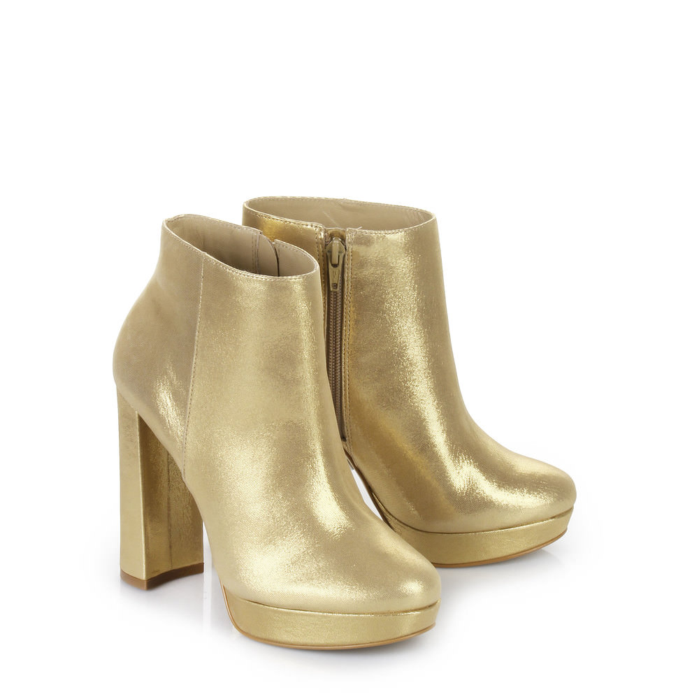 Buffalo Plateau Stiefelette in gold