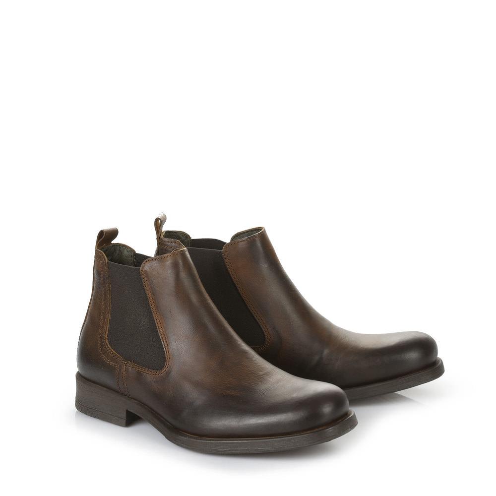 Booties Buffalo hommes couleur cognac