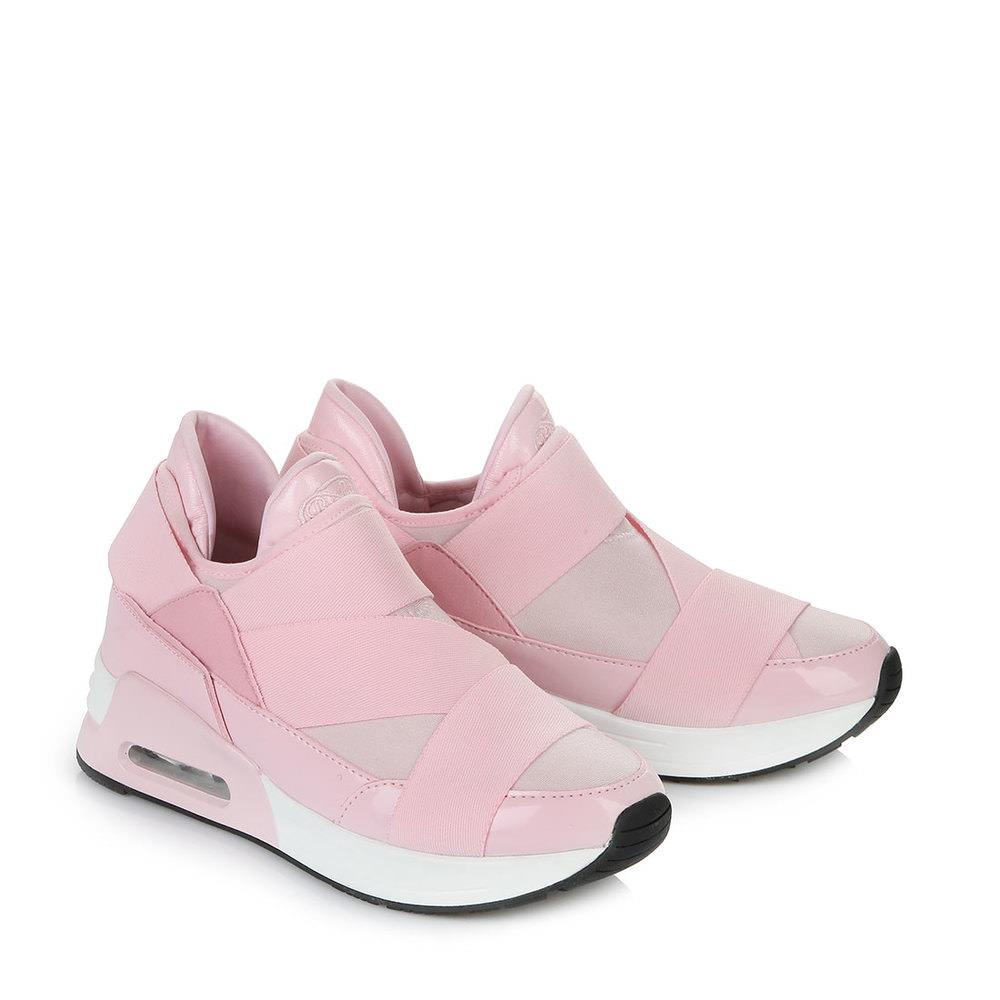 Buffalo Sneaker in rosé mit Gummizugeinsätzen Sale Angebote Horka