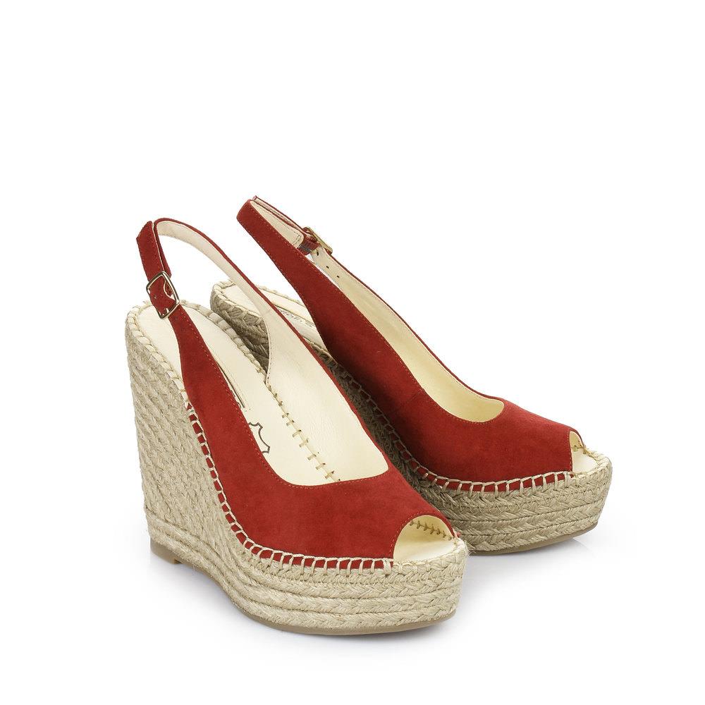 Buffalo Keil Sandalette in rot