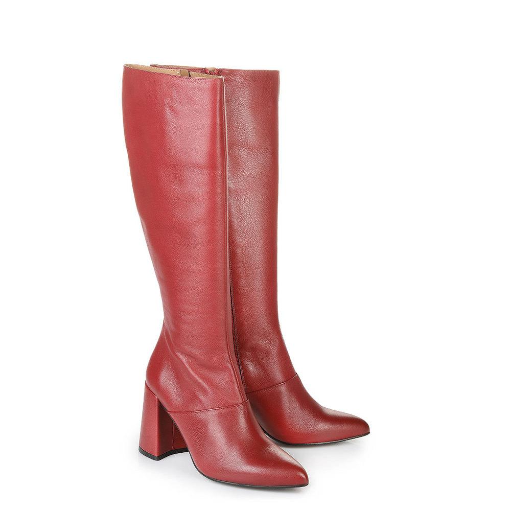 Buffalo Stiefel in rot mit Blockabsatz jetztbilligerkaufen