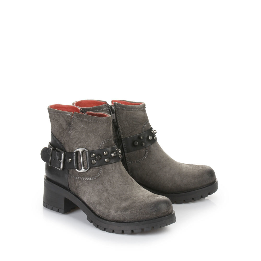 Buffalo Biker Booties in grau
