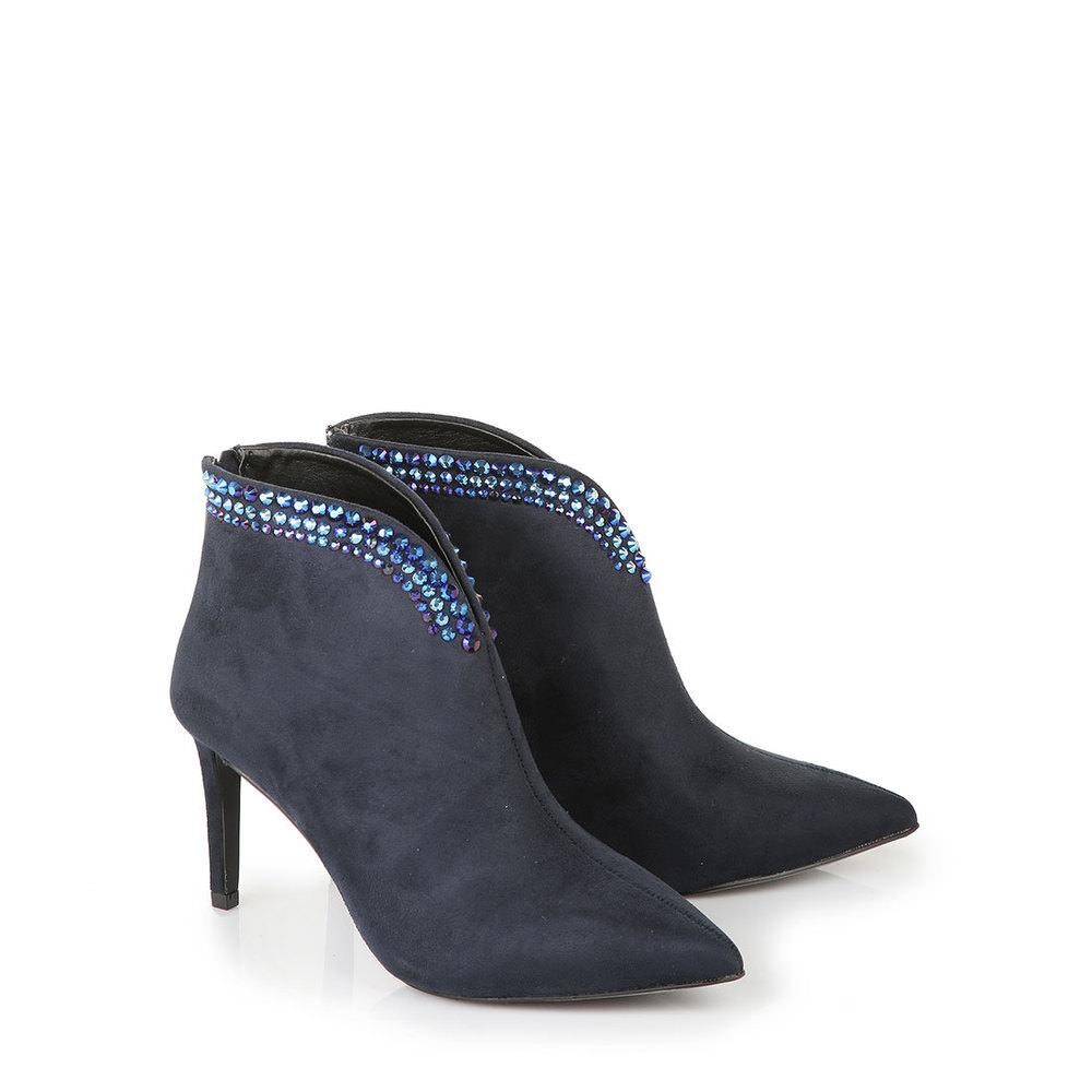 Buffalo Ankle-Boots in dunkelblau Sale Angebote Hosena