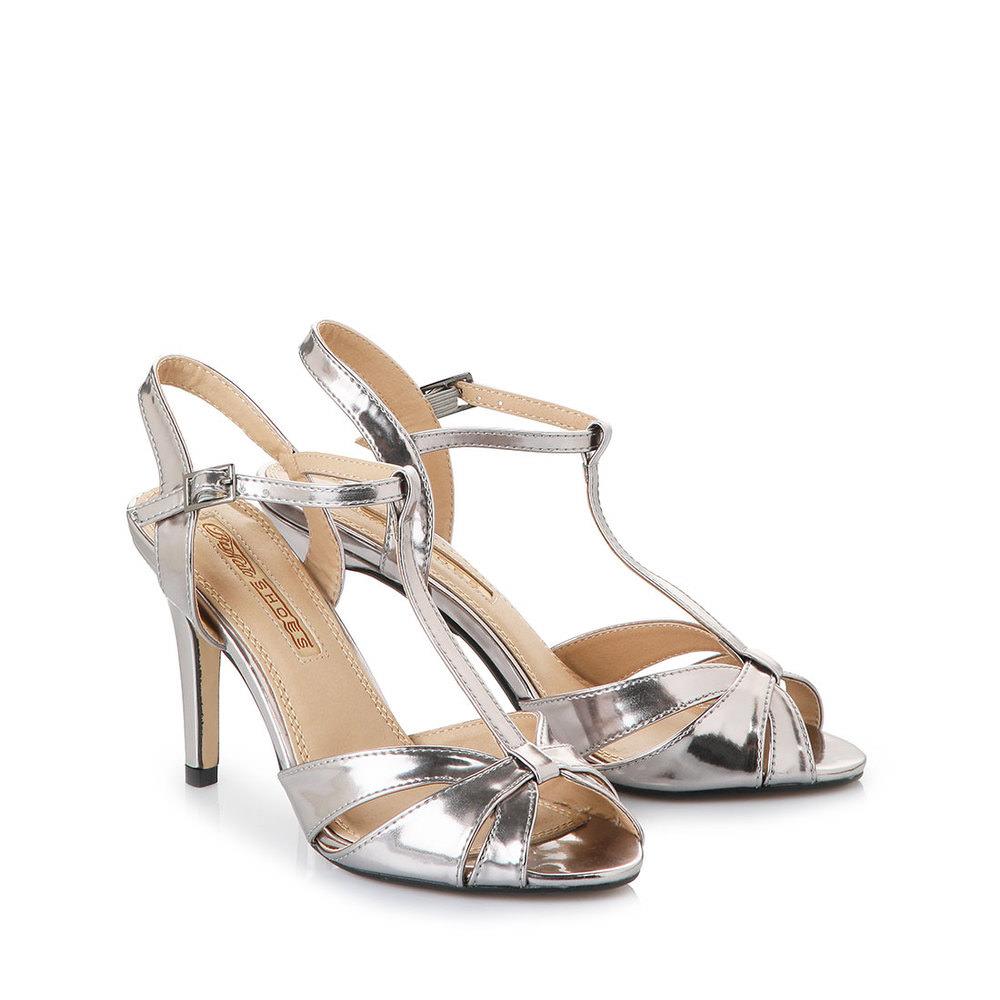 Sandalette in anthrazit