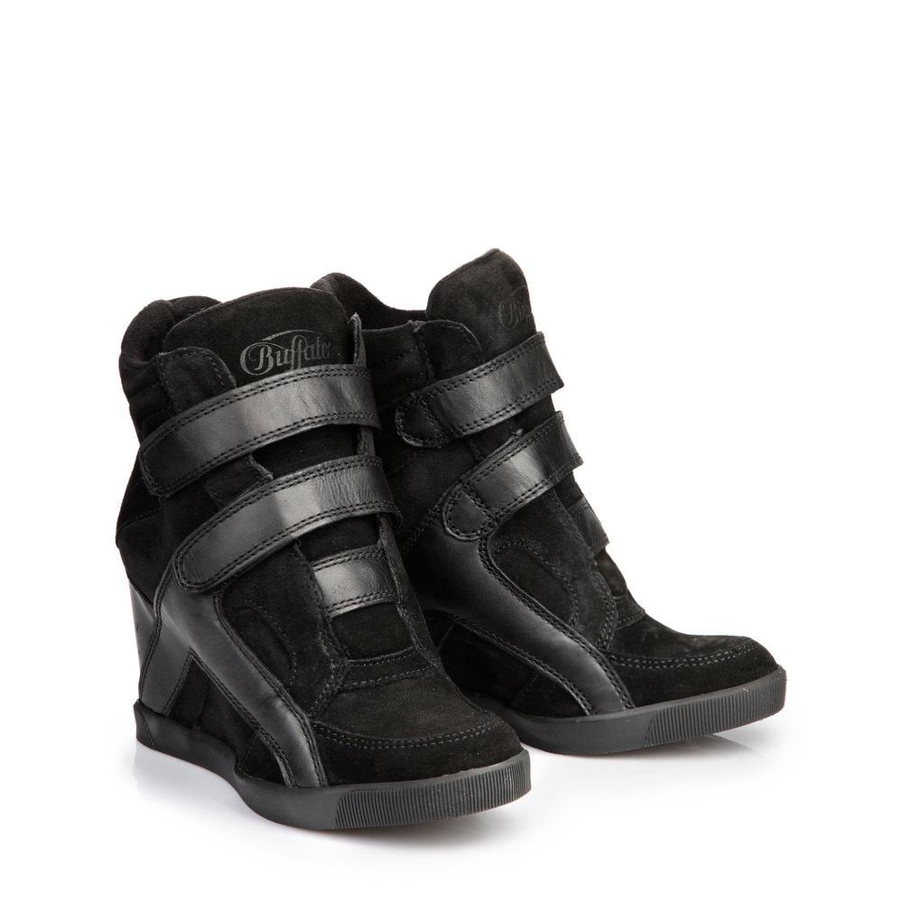 Schmogrow-Fehrow Angebote Buffalo Keil-Sneaker in schwarz aus Leder
