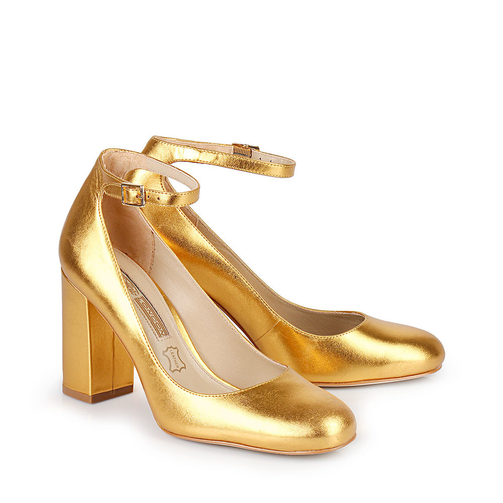 Pumps in gold
