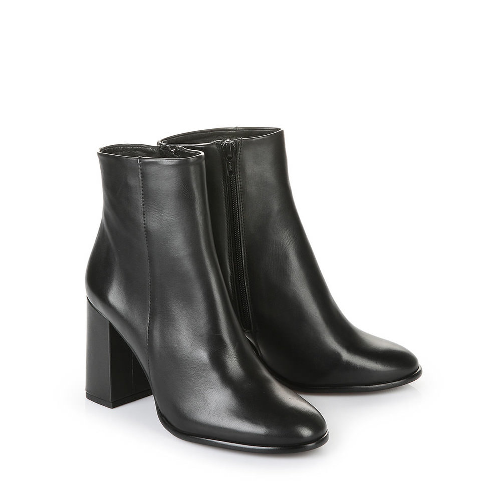 Buffalo Schmalschaft-Stiefelette in schwarz mit Blockabsatz jetztbilligerkaufen