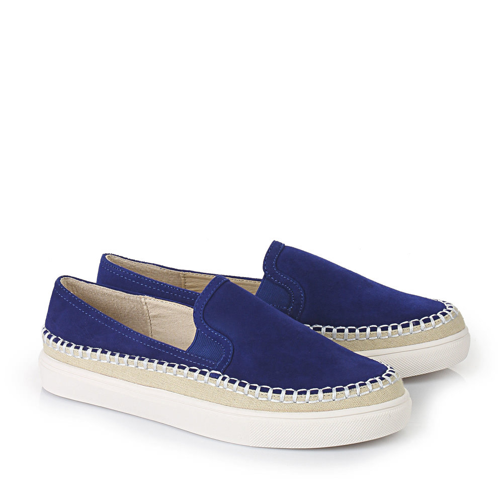 Buffalo Slip On in royalblau
