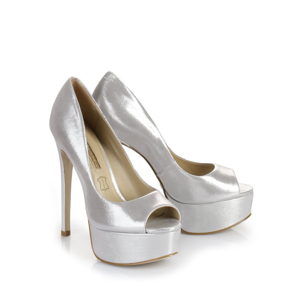 Buffalo Plateau Peep Toe in silber