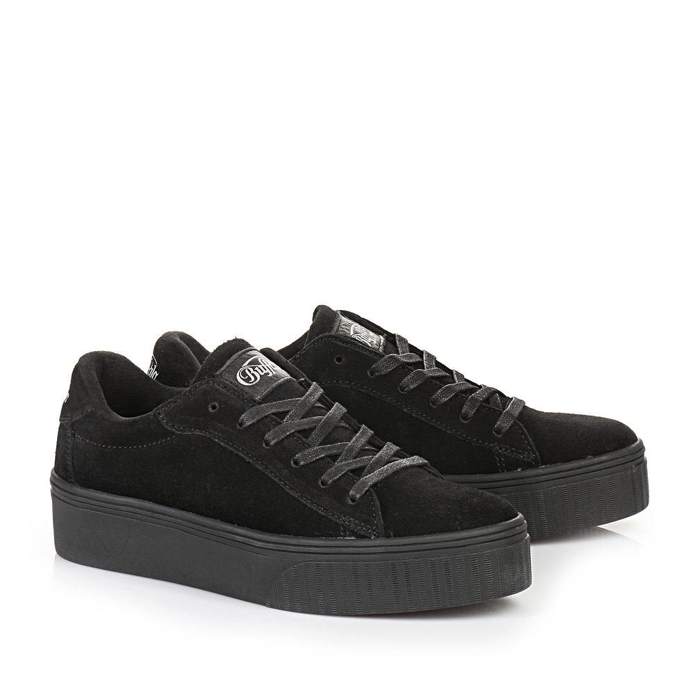 Buffalo Plateau Sneaker in schwarz