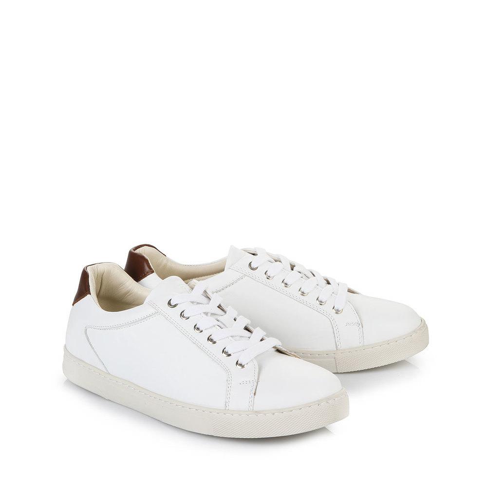 Buffalo Herren-Sneaker in weiß aus Leder