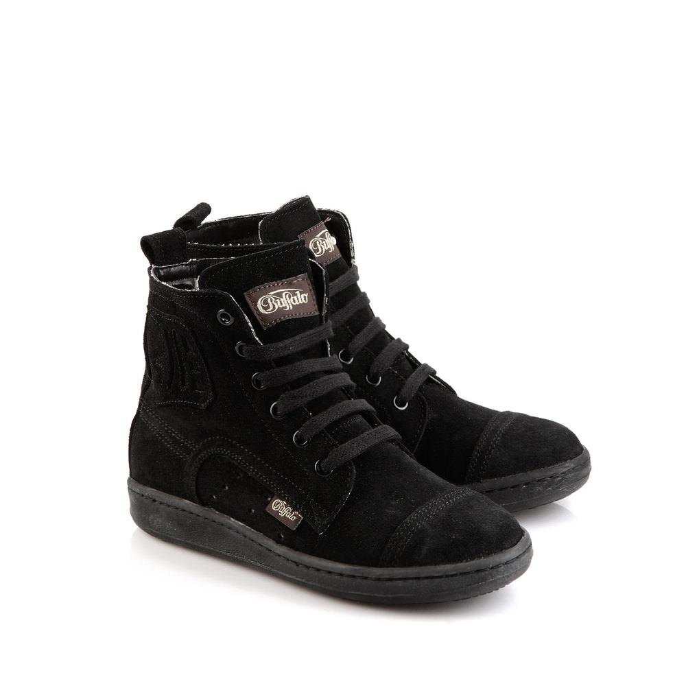 Buffalo Sneaker aus schwarzem Veloursleder