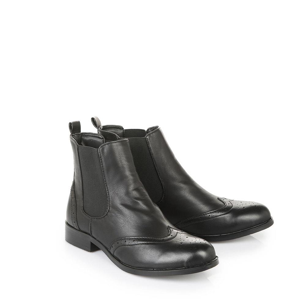 Schipkau Annahütte Angebote Buffalo Chelsea-Boots in schwarz mit Lyramusterung