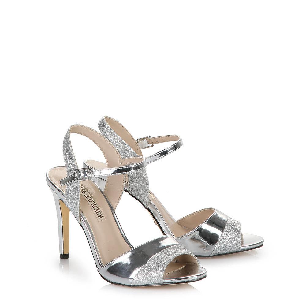 Sandalette in silber
