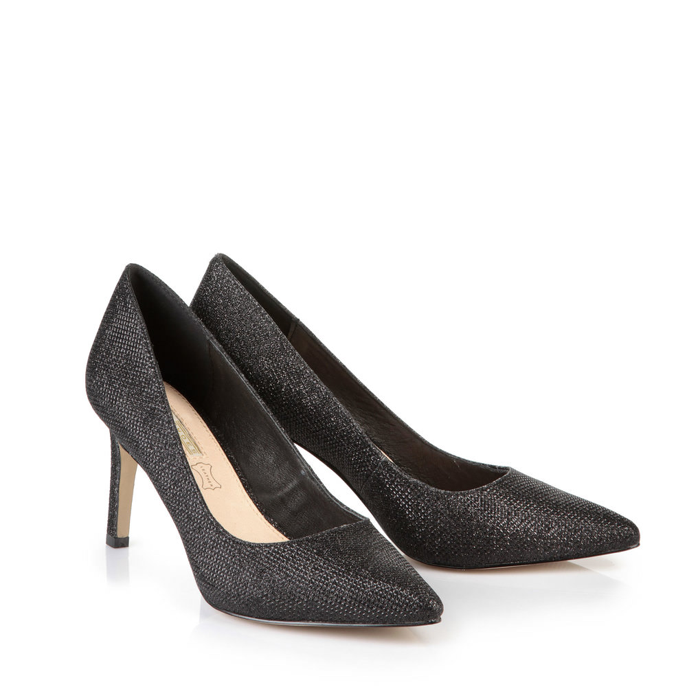 Buffalo Glitzer Pumps in schwarz