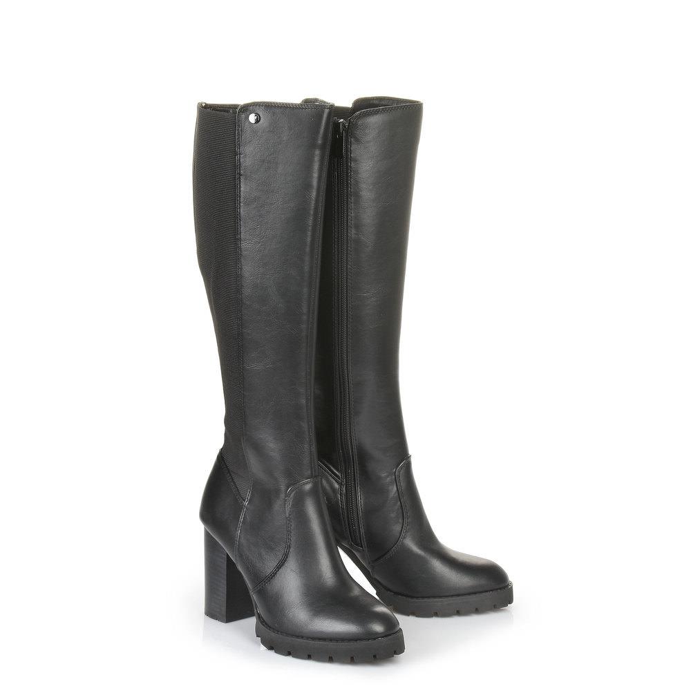 buffalo plateau stiefel in schwarz mit profilsohle g nstig schnell einkaufen. Black Bedroom Furniture Sets. Home Design Ideas