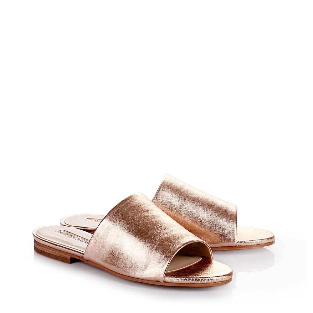 flache Mules in bronze