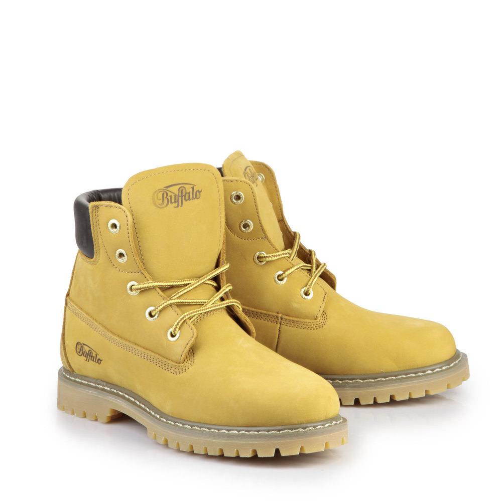 Buffalo Herren Schnür-Booties in gelb