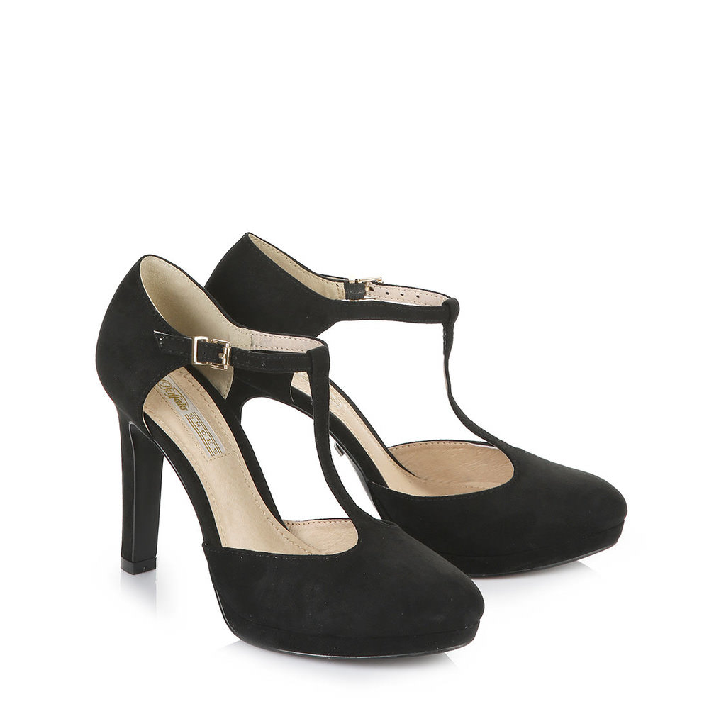 Buffalo Mary Jane Pumps in schwarz bei Buffalo