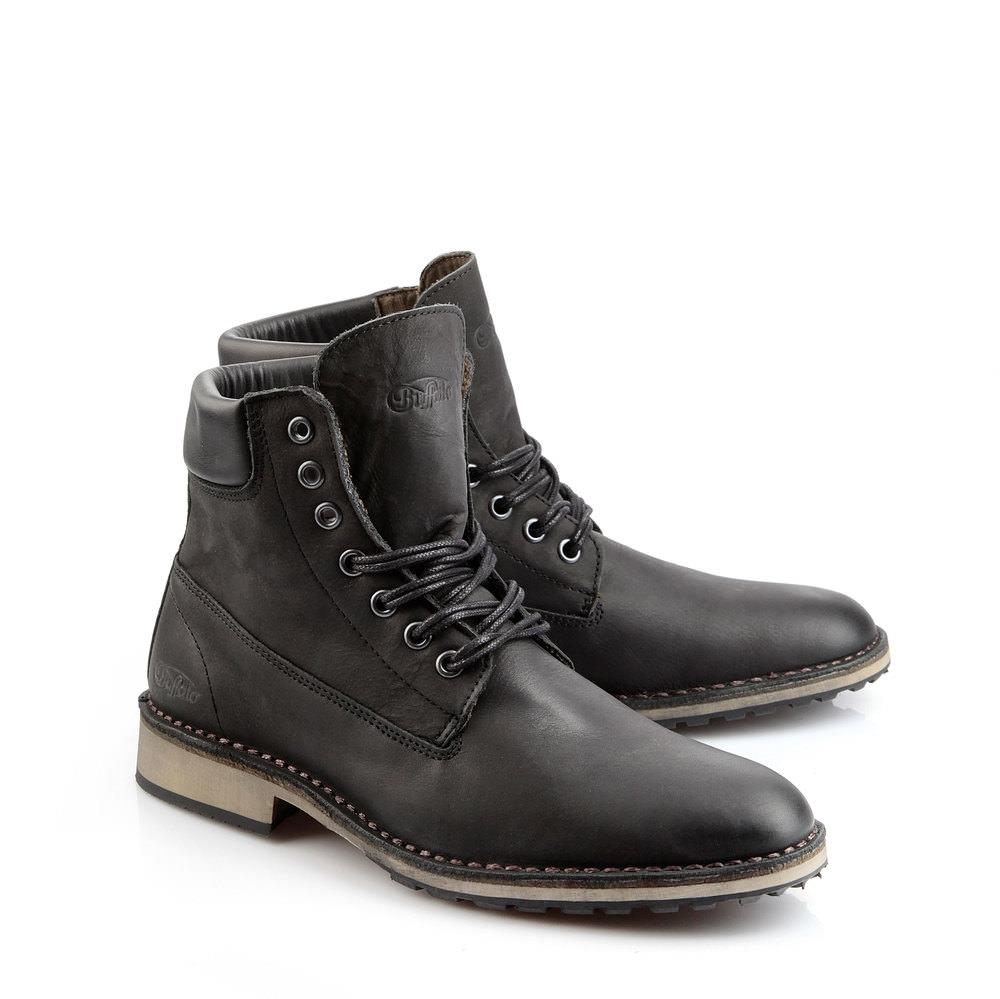 Boots à lacets pour homme Buffalo en noir