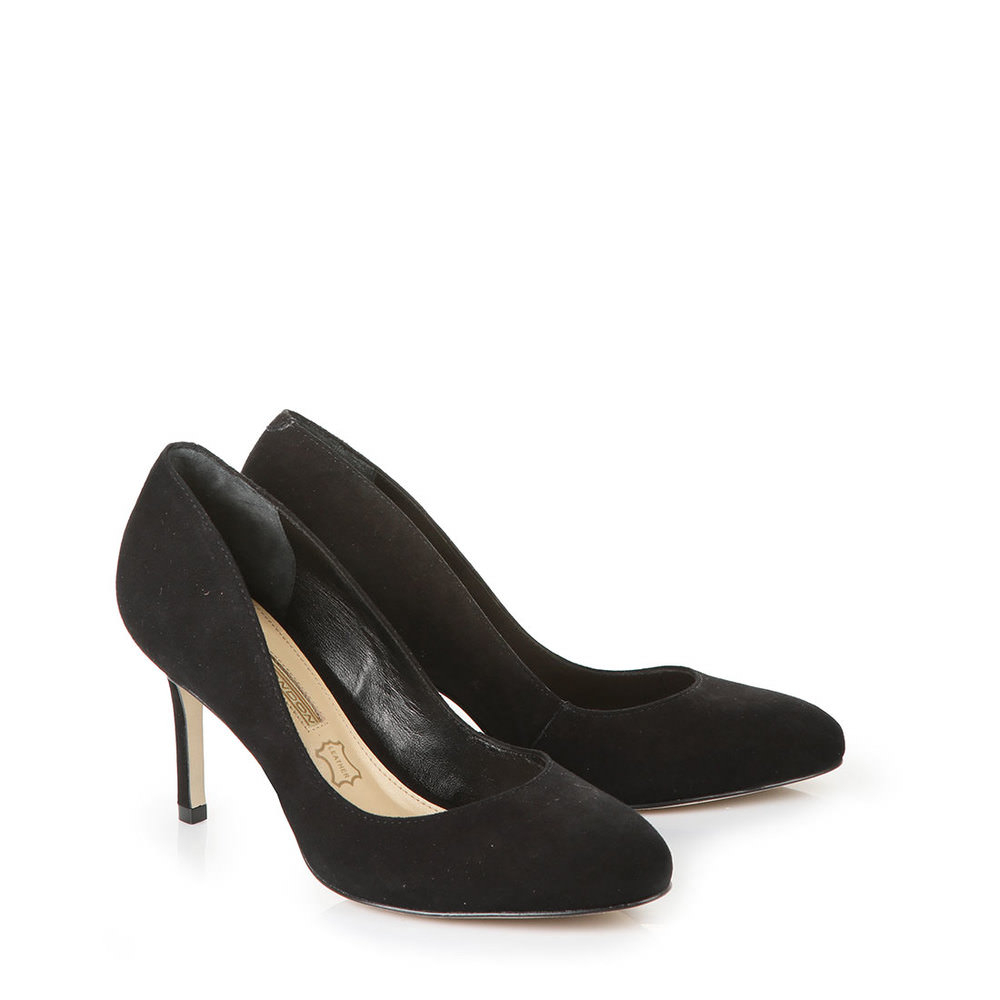 Buffalo runder Pumps in schwarz bei Buffalo