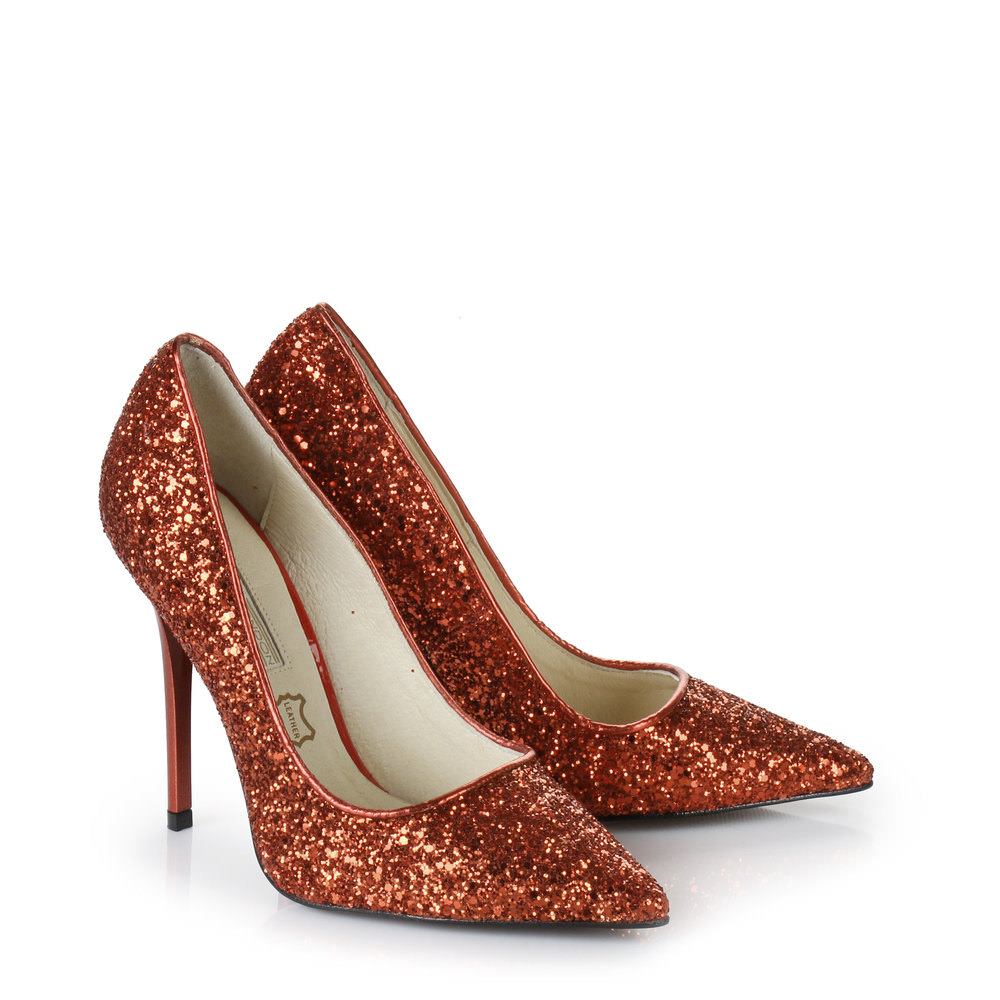 Buffalo Glitzer Pumps in rot