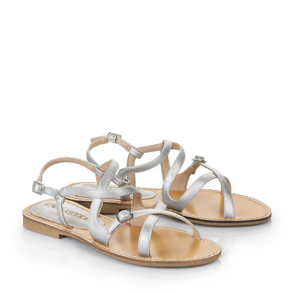 Sandale in silber