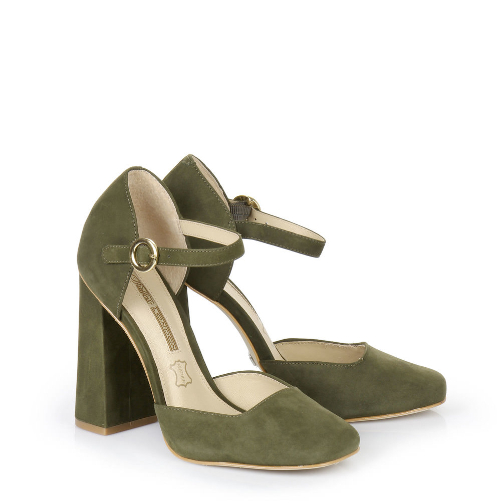 Karree Pumps in khaki