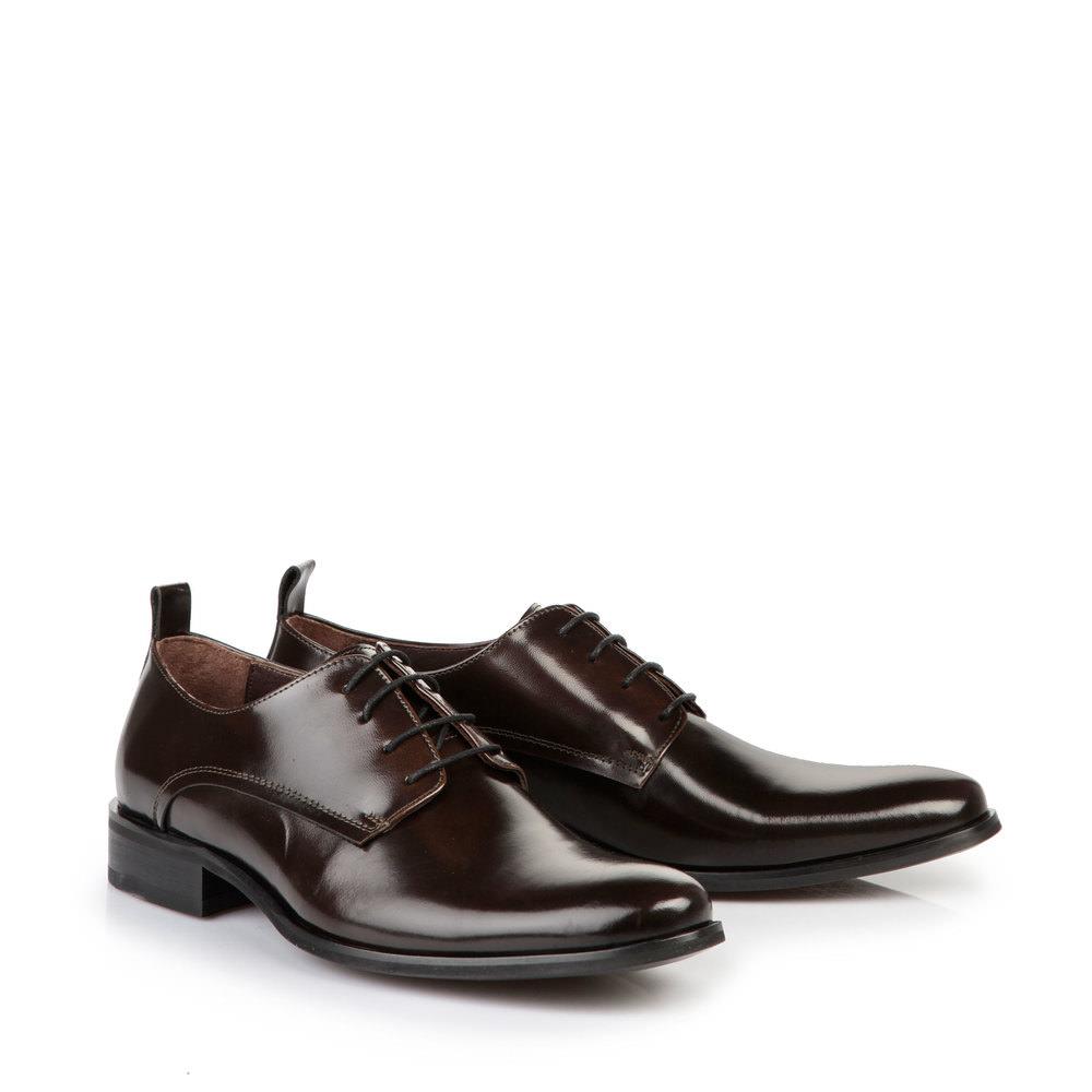 Chaussures à lacets Buffalo pour homme, BRUN FONCÉ