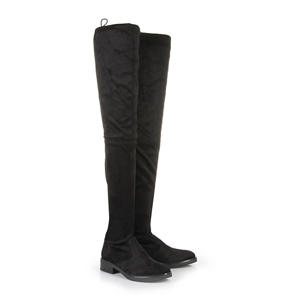 Buffalo Overknee Stiefel in schwarz