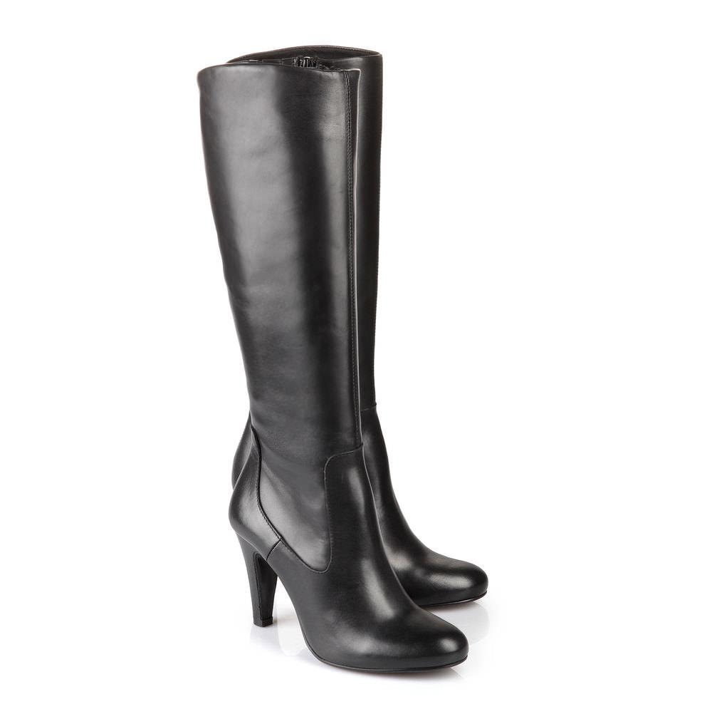 Buffalo Stiefel in schwarz aus glattem Leder bei Buffalo