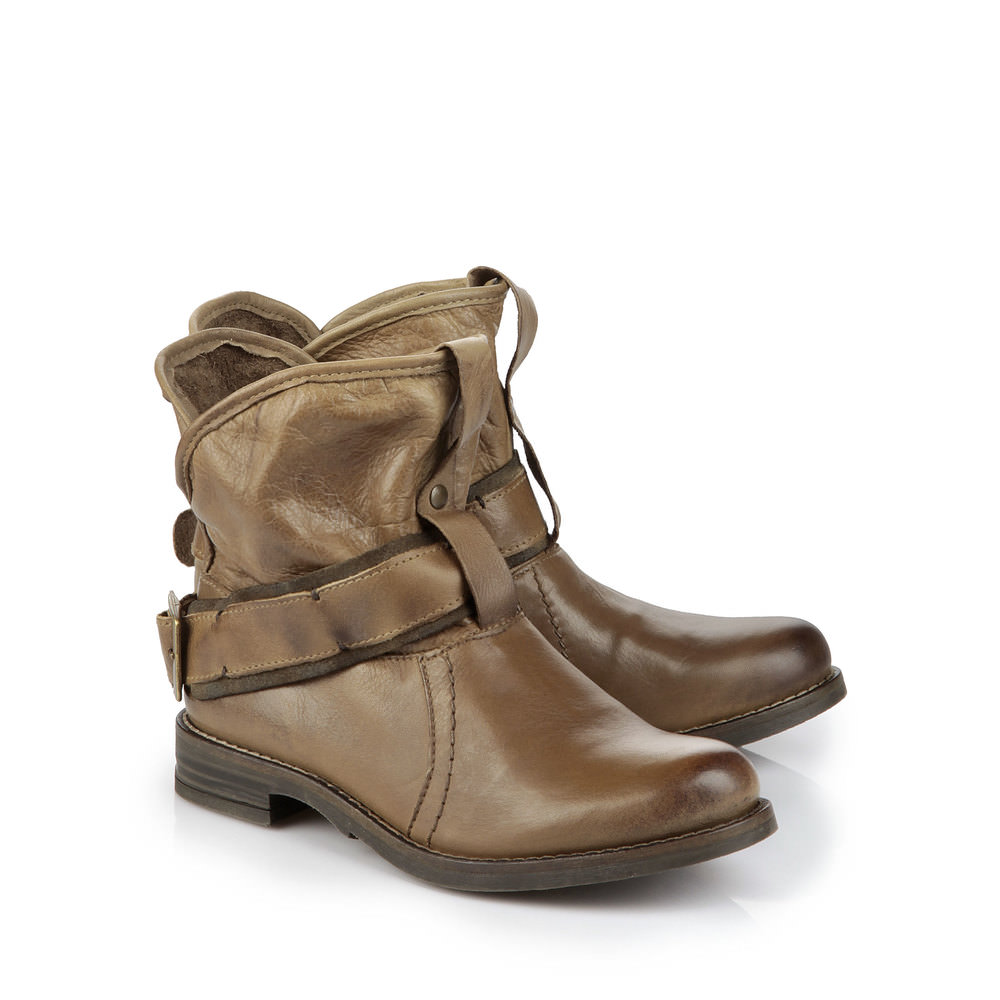 Buffalo Biker Booties in braun