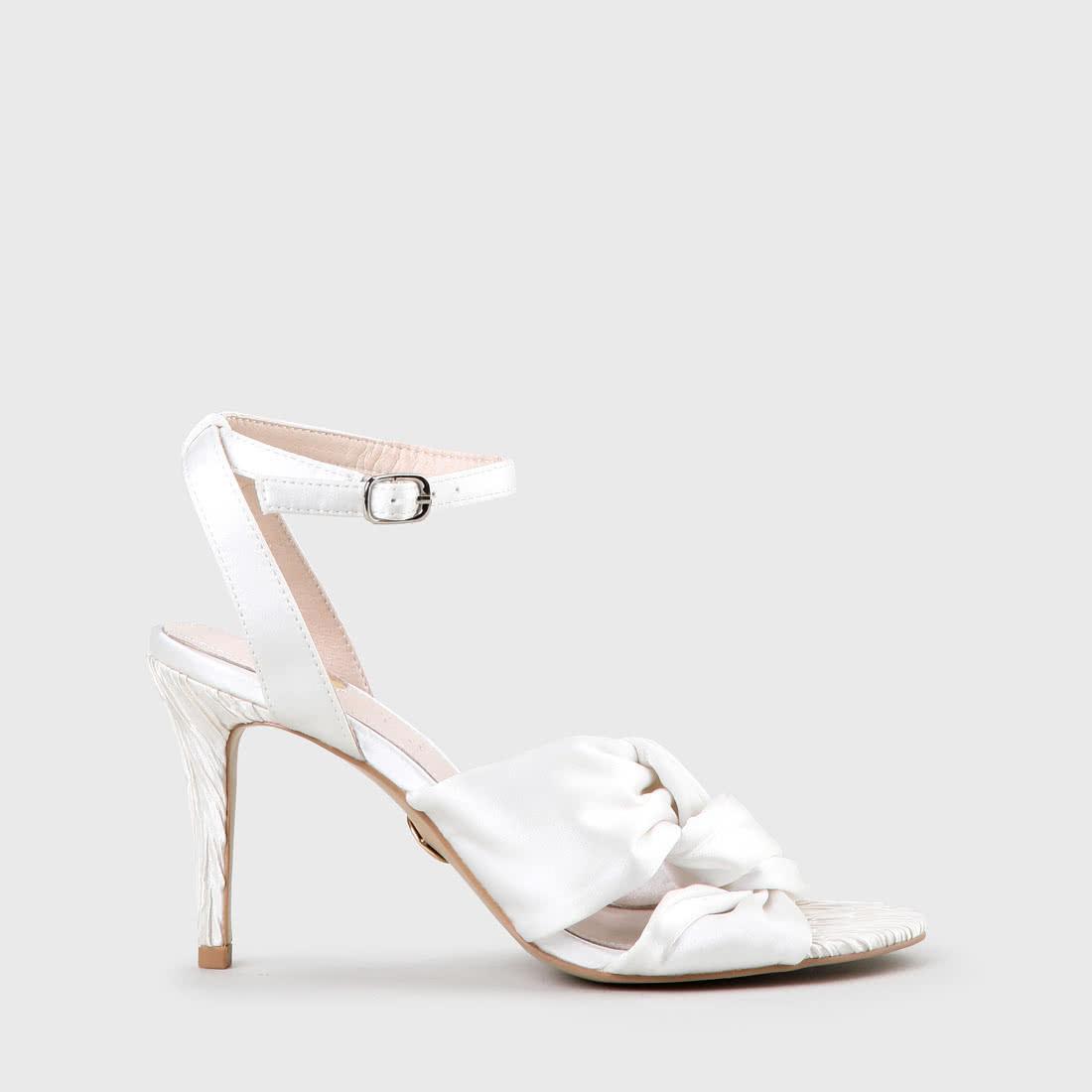 Satin Weiß Ebru Sandalette Satin Ebru Sandalette Aus Aus PkXiuOZ